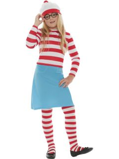Wheres Wally Adult Mens Ladies Boys Girls Fancy Dress Outfit Book Fun