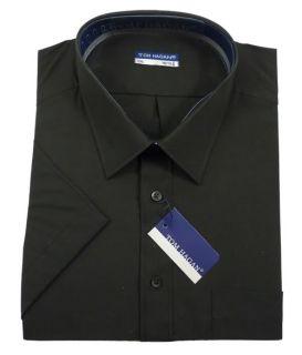New Mens Big King Size Short Sleeve Summer Shirt Black
