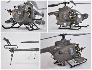 RC 3D Hubschrauber, 3 Kanal, LiPo, GYRO  Hughes 500 Defender