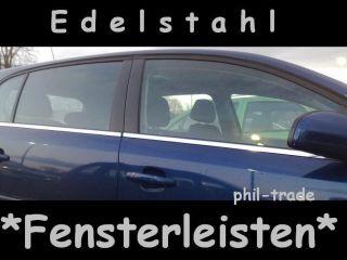 Ford Focus 2 Turnier + C Max Chrom Fensterleisten Edelstahl 4 tlg SET