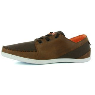 Boxfresh Keel Combo Brown Orange Mens Trainers Shoes