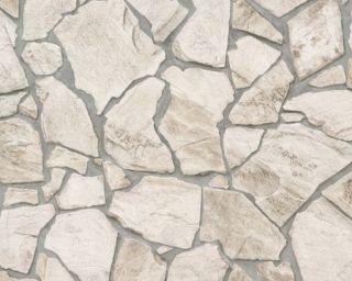 Woodn Stone   9273 23 Vlies Neu Natur Steintapete Mauer Beige Braun