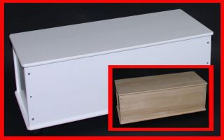 Wäschetruhe Wäschebox aus Holz, Länge73cm, natur oder weiß