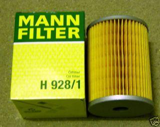 MANN Olfilter Oel Filter Filtereinsatz H928 1 fuer Deutz Oldies Kramer