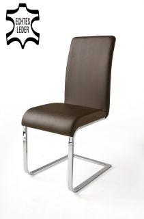 Esszimmerstühle Leder Braun esszimmerstuhl stuhl z form freischwinger schwingstuhl schwinger