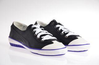 Puma 917 Mini Leather Damen Schuhe schwarz lila Neu