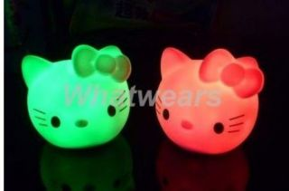 New Cute Hello Kitty Night Light LED Colors Changing Lamp Z15