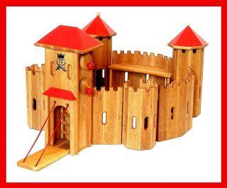 931 0320 Ritterburg aus Holz massiv Burg Fa. Drewart ökologisches