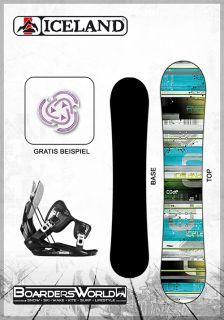 SET   ICELAND Snowboard CODE 150 cm + Flow Bindung L GRATIS Pad