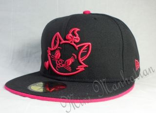 DISNEY MARIE SMILLING FACE NEW ERA 59Fifty Fitted CAP HAT