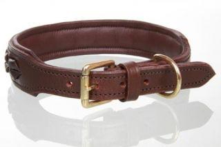 Leder Halsband Pecos, orig Round and Soft Hundehalsband