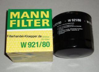 MANN Oelfilter Oel Filter Filterpatrone W921 80 fuer IHI Minibagger
