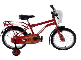 16 Zoll Kinderfahrrad Superboy in rot Fahrrad fuer Kinder Jungen 3 bis