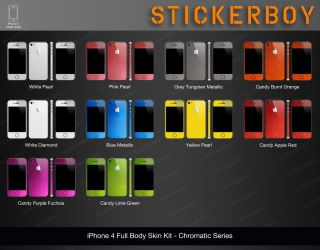 iPhone 4S Full Body Skin Kit Chromatic Pearl   Blue Metallic   3M by