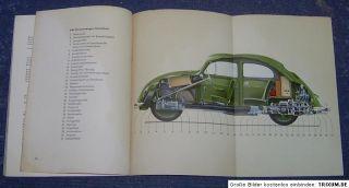 Betriebsanleitung VW Käfer Ovali von 1956