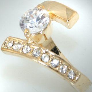 R949/17 Neu Luxus Goldring Zirkonia Damen Ring Schmuck/Ringe