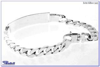 Herren Gravur Armband Silber 925 ID Band Armkette Gravur gratis mgl