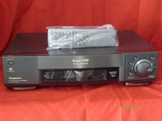 PANASONIC SUPER VHS VIDEO RECORDER NV HS950 S VHS TBC