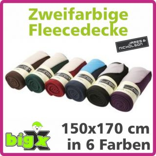 Bonded Fleece Blanket zweifarbige Fleecedecke Freizeit James