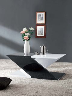 Designer Couchtisch Wohnzimmertisch weiß schwarz hochglanz Top Design