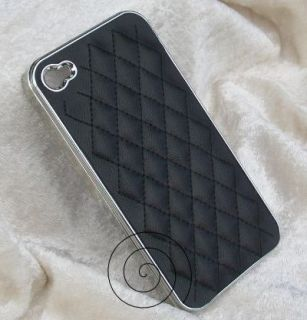 Luxus Deluxe Leder Hard Case fuer iPhone 4 4G 4S Schutz Cover Etui