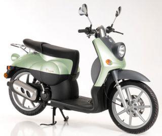 Benelli Pepe Motorroller Lindgruen Retroroller Scooter 50ccm 16