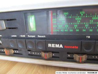 RFT DDR Radio Rema toccata 940 Hifi mit Rema Boxen in selten weiss XXL