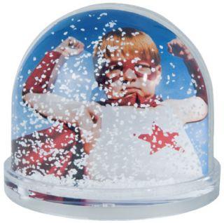 Schneekugel Acrylglas für 2 individuelle Fotos