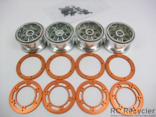 Axial 2.2 8 Hole Beadlock Wheels AX8097 Rock Crawler Scale Orange