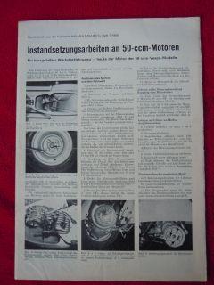 VESPA * REPARATURANLEITUNG Vespa 50 ccm Roller Motor 1966