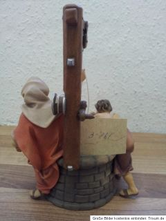 Holzfigur Brunnengruppe 17 cm Top/Geschäftsauflösung (A 946
