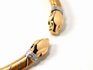 Cartier Cougar Collier Halsspange 750/Gold Tricolor mit Brillanten