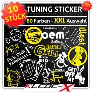 Tuning Sticker Set 10 Stueck S Handwash Dub Gscheid Fat Auto Aufkleber