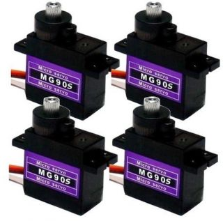 4pcs MG90S Metal Geared Micro Tower Pro Servo For Boat Car Plane