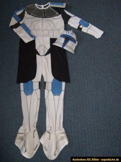 Star Wars Clone Trooper Kostüm Captain Rex Anzug + Maske 1x getragen