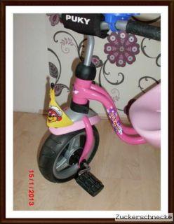 Puky 2325 Dreirad Touring mit Schiebestange CAT 1 S Lovely Pink Rosa