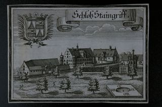 Wening,Bayern,1701,Kupferstich,Schloss Staingriff