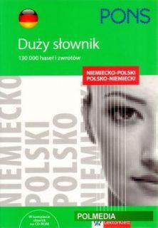 Duzy slownik niemiecko polski, polsko niemiecki + CD