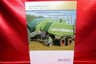 Fend Quaderballenpresse 990/1270/1290/12130 Prospek / Brochure 2008