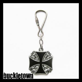 Schlüsselanhänger Iron Cross Eisernes Kreuz Skull