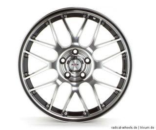 Alufelgen Plain P61 schwarz polier Rand Schwarz 8x18 E35 BMW 3er