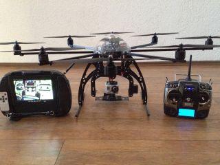 Oktokopter XL Mikrokopter Foto Drohne Okto Copter Flir droidworx fpv