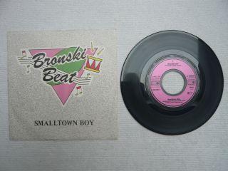 Bronski Beat   Smalltown Boy   Metronome   7 Single   Vinyl