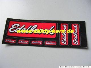 Edelbrock Aufkleber 7 Srück origi. USA Import Hot Rod
