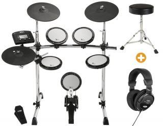 NEU XM Z E Drum Se Schlagzeug Drums + Hocker + Kopfhörer Drumse