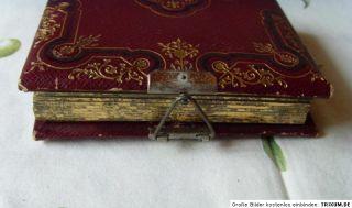 Kleines Kabinett Fotoalbum mit 7 Kabinett Fotos, antik