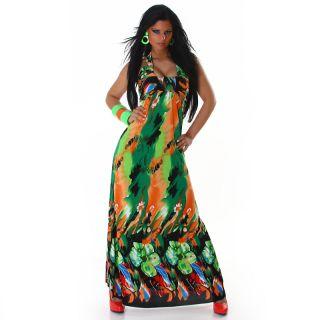 Sommerkleid Strandkleid Neckholder Kleid Maxikleid Abendkleid lang