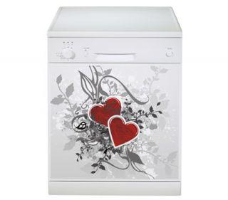Retro Love   Geschirrspüler Dekorfolie Aufkleber Spülmaschine