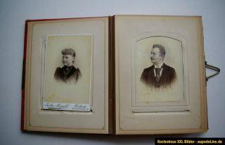 Altes Fotoalbum mit 53 alten Fotos Porträts um 1900 und früher
