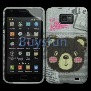 New Lover Bear GEL Cover Case For Samsung Galaxy S2 S II i9100